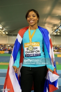 Crowned British Champion with an indoor Personal Best leap of 6.73m