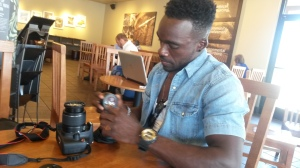 Mikel setting up his own camera during our interview. Life may be up and down, but he remains at peace through it all.