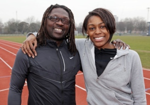 Perri with her coach of 13-years, Chris Zah