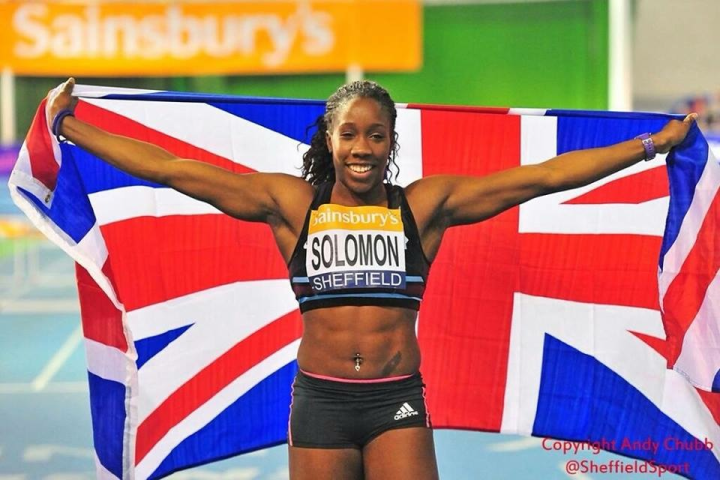 Serita became British Indoor 60mH champion in February 2015