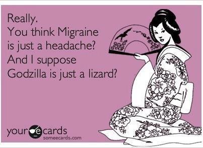 migraine godzilla