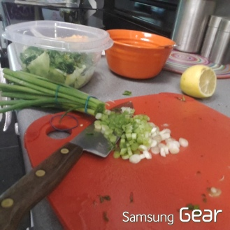 chopped spring onions