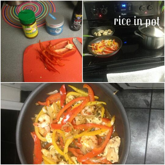 stir fry collage