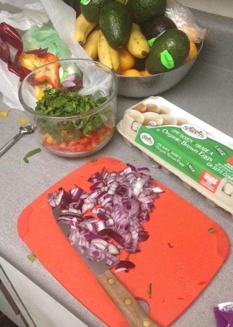 messy omelette prep 3.12.15