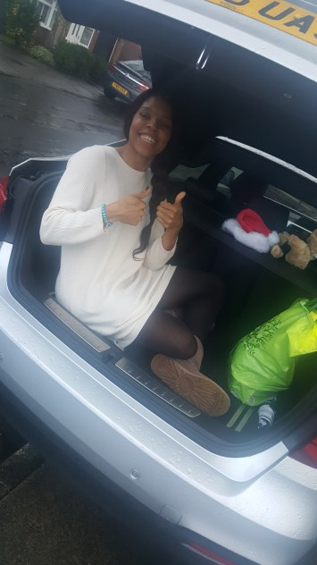 I was sat in my cousin's car boot on Jan 1st...Just because...!