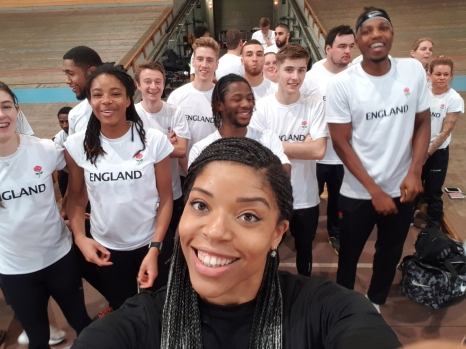 Some of Team England - A Selfie